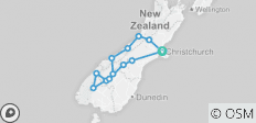 \'Sweet As\' South (Start Christchurch, Latest, 9 Days) - 13 destinations