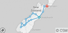 \'Sweet As\' South (Start Christchurch, End Wellington, Latest, 10 Days) - 16 destinations