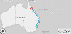 Mick Pass: Sydney to Cairns - 10 destinations
