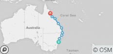 Mick Pass: Sydney to Cairns - 9 destinations
