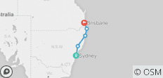 Greg Pass: Sydney > Brisbane  - 5 destinations