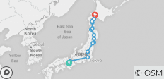 Traditional Japan and north of Japan- End Sapporo - 14 destinations