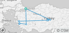 Four Aces of Turkey (with 3 domestics flights) - 10 destinations
