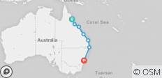 Trev Pass: Cairns > Sydney  - 7 destinations