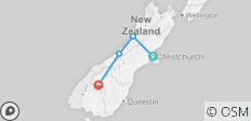 Tranz Alpine, Glaciers and Queenstown - 3 Days - 4 destinations