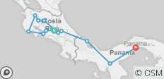 Cycle Costa Rica and Panama - 13 destinations