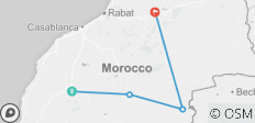 3DAYS MARRAKECH TO FES VIA MERZOUGA - 4 destinations