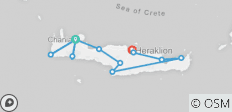 Crete: A walking sightseeing cultural island exploration - 12 destinations