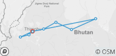 Bhutan Culture & Nature Tour With 1-Way Domestic Flight From Bumthang to Paro (Private) - 9 destinations