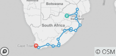 Kruger to Cape Town 20 Days - 18 destinations