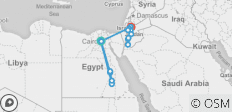 Pyramids to Petra with Cruise - 14 days - 20 destinations