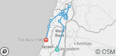 Christian Holyland Galilee and  Golan Heights Stopover Trip - 5 Days  - 14 destinations