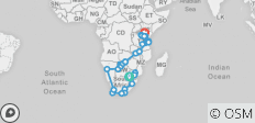 South Africa to Kenya Accommodated 62 Days - 62 destinations