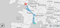 Grand France with 1 Night in Marseille & 3 Nights in London (Northbound) - 17 destinations