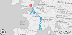 Grand France with 3 Nights in London (Northbound) - 18 destinations