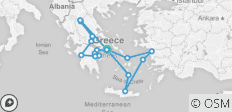 Best of Greece with 3 Day Cruise (including Thermopylae) - 17 destinations