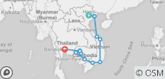 Hanoi to Bangkok - 19 days - 15 destinations