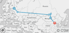 Trans Mongolian Express - 8 destinations