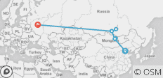 The Genghis Khan (from Beijing to Moscow) - 8 destinations