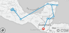Mexico, Belize and Guatemala - 12 destinations