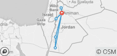 Jordan Experience with Dead Sea Extension (7 Days) - 8 destinations