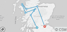 Loch Ness, the Jacobite and Skye Guided Rail Tour - 10 destinations