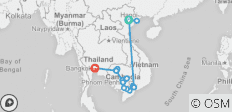 Fascinating Vietnam, Cambodia & the Mekong River with Hanoi, Ha Long Bay & Bangkok (Northbound) - 16 destinations