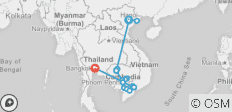Fascinating Vietnam, Cambodia & the Mekong River with Hanoi, Ha Long Bay & Bangkok (Southbound) - 16 destinations