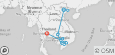 Fascinating Vietnam, Cambodia & the Mekong River with Hanoi, Ha Long Bay & Bangkok (Southbound) 2020 - 22 destinations