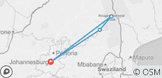 Johannesburg to kruger - 4 destinations