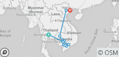 The Heart of Cambodia & Vietnam with Bangkok (Northbound) - 12 destinations