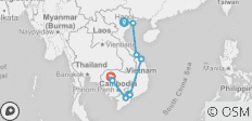 Highlights of Vietnam and Cambodia in 14 Days - 9 destinations