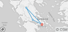 4 Days Rail Tour From Athens To Meteora And Delphi - 4 destinations