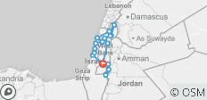 Israel Tour Adventure with Small Group - 9 Days - 18 destinations