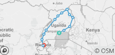 16 Days of Intensive Adventurous Safari through Magical Uganda and Rwanda - 14 destinations