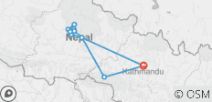 14 Days Nepal Trip with Rafting and Chitwan Jungle Safari - 12 destinations