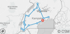 8 Days of Primates, Wildlife and Water Rafting Uganda Safari - 19 destinations