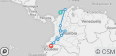 Cartagena To Quito (22 Days) Colombian Adventure - 13 destinations