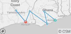 Explore Ghana & Cote D'Ivoire 10-days - 7 destinations