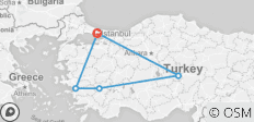 10 DAYS TOUR OF TURKEY BY BUS FROM ISTANBUL  - 5 destinations