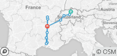 South of France with Switzerland 2020 (Start Zurich, End Lyon) - 12 destinations