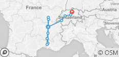 South of France with Switzerland 2020 (Start Lyon, End Zurich) - 12 destinations