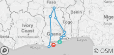 The Best of Ghana 12 Days - 10 destinations