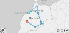 6 Days tour from Casablanca to Marrakech visiting Chefchaoun, Fes, and the sahara desert - 13 destinations
