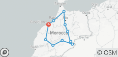 Von Casablanca nach Marrakesch (Privat) - 8 Tage - 12 Destinationen