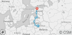 Private tour to the Baltic capitals Vilnius, Riga, Tallinn - 8 destinations