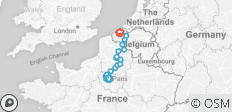 Paris to Bruges (Brugge), Cycling and Sailing in France and Belgium - 17 destinations