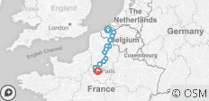 Bruges (Brugge) to Paris, Cycling and Sailing in Belgium and France - 14 destinations