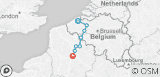 Bruges (Brugge) to Péronne, Cycling and Sailing in Belgium and France - 8 destinations