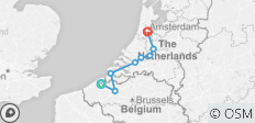 Bruges to Amsterdam - 8 destinations